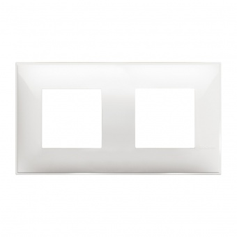 PVC двойна рамка, white, bticino, classia, r4802m2rw