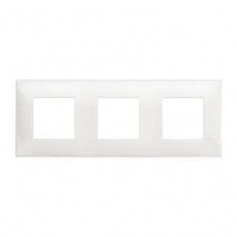 PVC тройна рамка, white, bticino, classia, r4802m3rw