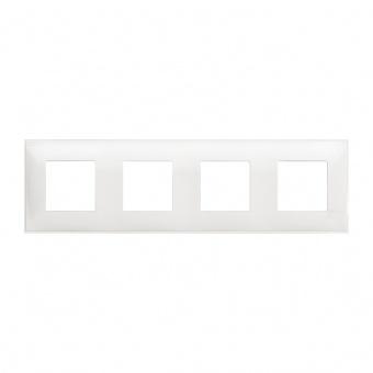 PVC четворна рамка, white, bticino, classia, r4802m4rw