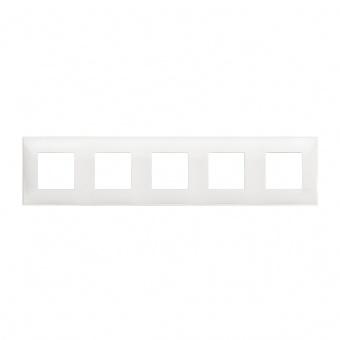 PVC петорна рамка, white, bticino, classia, r4802m5rw