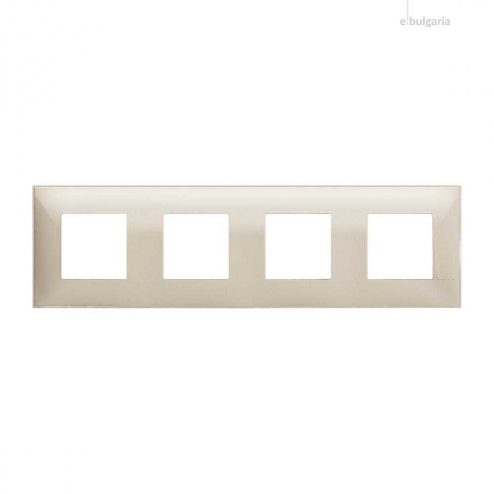 PVC четворна рамка, cream, bticino, classia, r4802m4cr