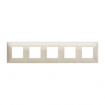 PVC петорна рамка, cream, bticino, classia, r4802m5cr