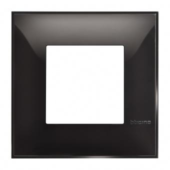 PVC рамка, black, bticino, classia, r4802bc