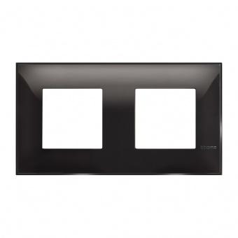 PVC двойна рамка, black, bticino, classia, r4802m2bc