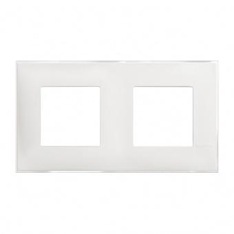 PVC двойна рамка, ice satin, bticino, classia, r4802m2es