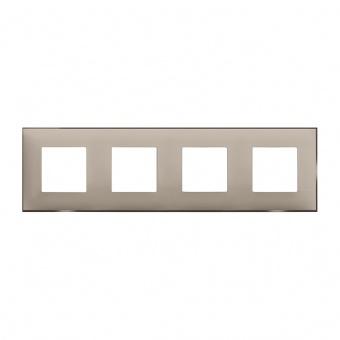 PVC четворна рамка, cream satin, bticino, classia, r4802m4cs