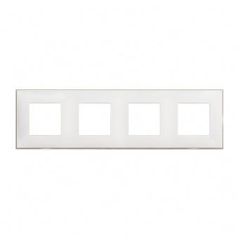 PVC четворна рамка, white satin, bticino, classia, r4802m4ws