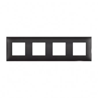 PVC четворна рамка, black satin, bticino, classia, r4802m4bg