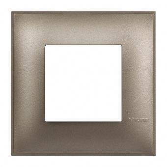 PVC рамка, titanium metal, bticino, classia, r4802tm