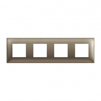 PVC четворна рамка, titanium metal, bticino, classia, r4802m4tm