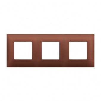 PVC тройна рамка, siena soft, bticino, classia, r4802m3sf