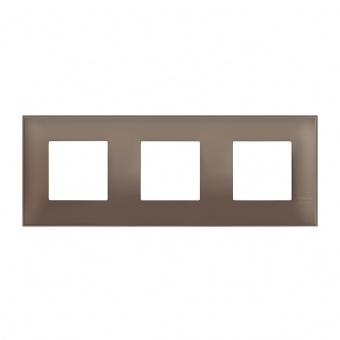 PVC тройна рамка, terra soft, bticino, classia, r4802m3tf