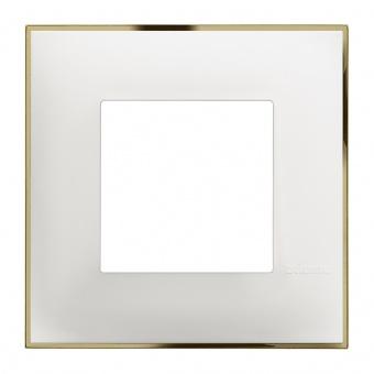 PVC рамка, white gold, bticino, classia, r4802wd