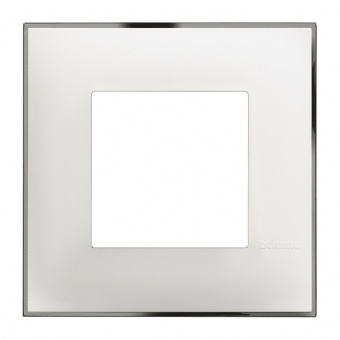 PVC рамка, white chrome, bticino, classia, r4802wr