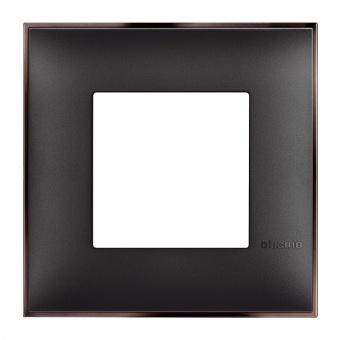 PVC рамка, black nickel, bticino, classia, r4802bh