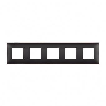 PVC петорна рамка, black nickel, bticino, classia, r4802m5bh