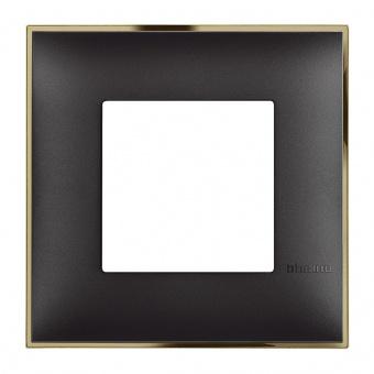 PVC рамка, black gold, bticino, classia, r4802bd