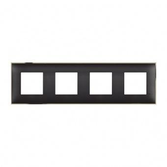 PVC четворна рамка, black gold, bticino, classia, r4802m4bd