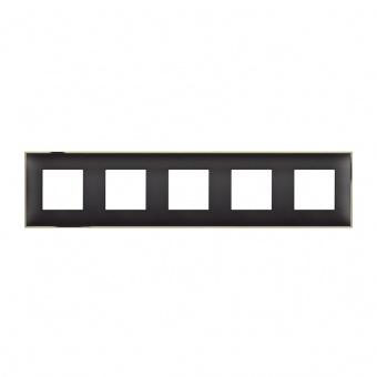 PVC петорна рамка, black gold, bticino, classia, r4802m5bd