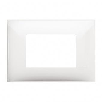 PVC тримодулна рамка, white, bticino, classia, r4803rw