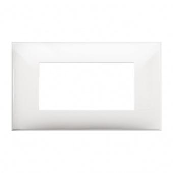PVC четиримодулна рамка, white, bticino, classia, r4804rw