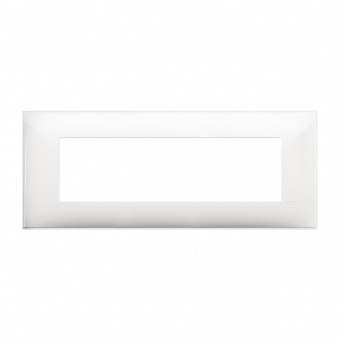 PVC седеммодулна рамка, white, bticino, classia, r4807rw