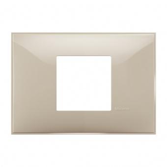 PVC двумодулна рамка, cream, bticino, classia, r4819cr