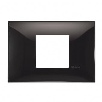 PVC двумодулна рамка, black, bticino, classia, r4819bc