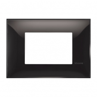 PVC тримодулна рамка, black, bticino, classia, r4803bc