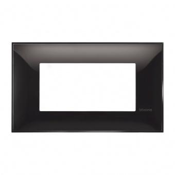 PVC четиримодулна рамка, black, bticino, classia, r4804bc