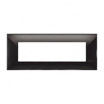 PVC седеммодулна рамка, black, bticino, classia, r4807bc