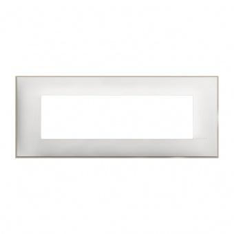PVC седеммодулна рамка, white satin, bticino, classia, r4807ws