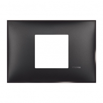 PVC двумодулна рамка, black satin, bticino, classia, r4819bg