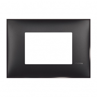PVC тримодулна рамка, black satin, bticino, classia, r4803bg