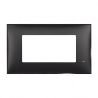 PVC четиримодулна рамка, black satin, bticino, classia, r4804bg