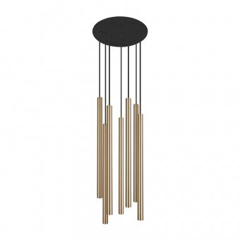 метален полилей, brass+black, nowodvorski, laser, 7x10w, 8921