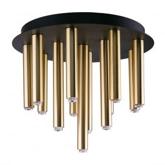 метален плафон, brass+black, nowodvorski, stalactite, 13x10w, 9054