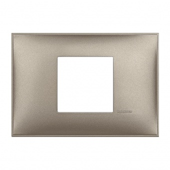 PVC двумодулна рамка, titanium metal, bticino, classia, r4819tm