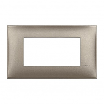 PVC четиримодулна рамка, titanium metal, bticino, classia, r4804tm