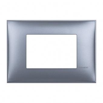 PVC тримодулна рамка, blue metal, bticino, classia, r4803lm