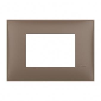 PVC тримодулна рамка, terra soft, bticino, classia, r4803tf
