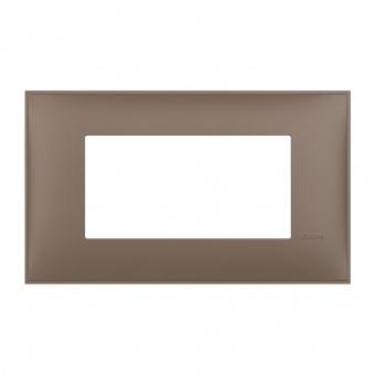 PVC четиримодулна рамка, terra soft, bticino, classia, r4804tf