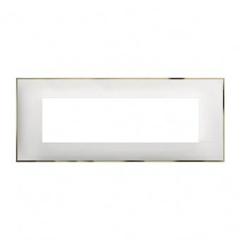 PVC седеммодулна рамка, white gold, bticino, classia, r4807wd