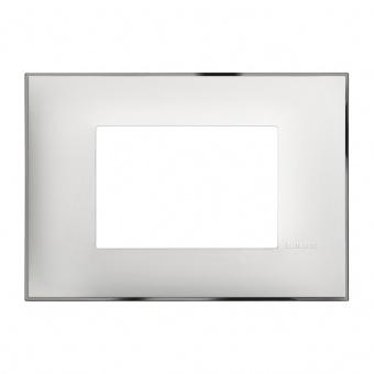 PVC тримодулна рамка, white chrome, bticino, classia, r4803wr