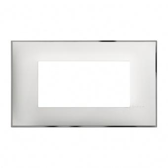 PVC четиримодулна рамка, white chrome, bticino, classia, r4804wr