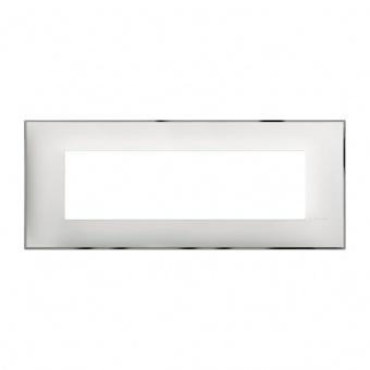 PVC седеммодулна рамка, white chrome, bticino, classia, r4807wr