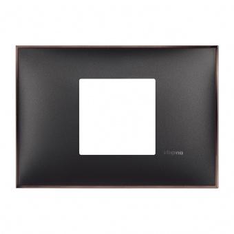 PVC двумодулна рамка, black nickel, bticino, classia, r4819bh