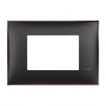 PVC тримодулна рамка, black nickel, bticino, classia, r4803bh