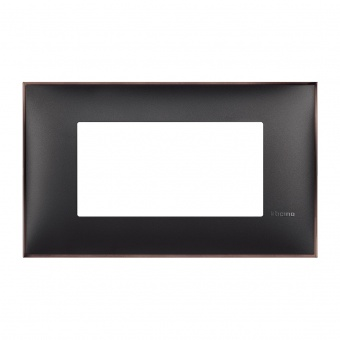 PVC четиримодулна рамка, black nickel, bticino, classia, r4804bh