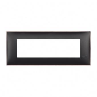 PVC седеммодулна рамка, black nickel, bticino, classia, r4807bh